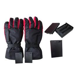 Цикл работы от батареи онлайн-1 Pair Waterproof Heated Gloves Battery Powered For Motorcycle Hunting Ski Winter Warmer Gloves Bike Cycling (No Battery)