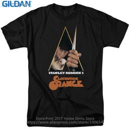 Argentina Crear camiseta en línea manga corta de los hombres Un Clockwork Orange Movie Poster Crew Neck Fashion 2017 Tees cheap movies poster Suministro