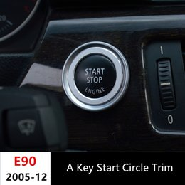Canada Garniture de couvercle de bouton d'arrêt de démarrage de voiture pour BMW série 3 E90 318 320 325i 2009-12 Anneau décoratif de bouton de puissance de moteur en aluminium supplier engines for cars Offre