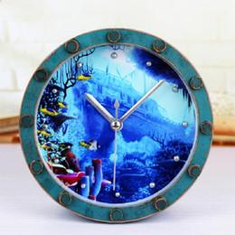 Despertador fajr on-line-alarme relógios de automóveis despertador relógio digital mesa eletrônica decoração da casa klok masa saatial fajr relógio rodada plástico azul