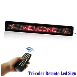 Wholesale Scrolling Screen Display Led - 26 inches RS232 110-220V LED Advertising Screen Display Board Programmable scrolling text Message Sign + Remote Controller for Shop business