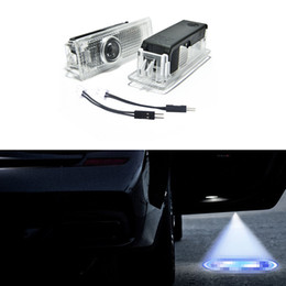 Luces de sombra bmw online-Fácil instalación Car Door LED Logo Proyector Ghost Shadow Lights para BMW 2pcs 1 Set con cable adaptador