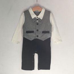 Kinder 12 jahre modell online-Er hallo genießen baby kleidung jungen set gentleman modellierung säuglings langarm klettern kleidung kinder körper anzug 0 ~ 2 jahr ahy023