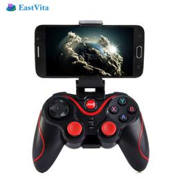 дистанционное управление bluetooth для телефона android Скидка EastVita T3 игровой контроллер беспроводной Bluetooth геймпад джойстик 3.0 Android игровой пульт дистанционного управления для смарт-телефон PC таблицы