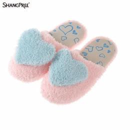 Canada Automne Hiver Belle Conception Créative Femmes Amour Maison Pantoufles 2018 Chaud Pantoufles Chaud Pantoufles Thermique Intérieur Pantoufle pour Offre