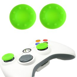 xbox un controlador cubre Rebajas Venta caliente 20 unids Caucho de Silicona Analógico Thumb Stick Grips Cap tapa para PS4 Pro Slim para Xbox One Elite S controlador Thumbsticks Caps