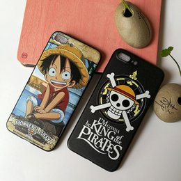 Wholesale Iphone Anime Casing - Fashion Cartoon Anime One Piece Phone Case Soft High Quality Cover Case for iPhone 6 7 8 Plus X Cute Gift Drop Shipping