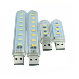 Wholesale Candles Small Night Lamp - 3Leds or 8leds 5730 Mini led USB Lamp 30mm or 100mm portable Lighting Computer Small Night Light