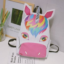 Wholesale Books Computers - Unicorn 2018New girl teenager backpacks Youth student school pattern canvas sport waterproof outdoor travelling computer book bag 180102006