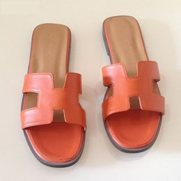d2e132c8112fa Summer New Luxury Flip Flops High Quality Natural Leather Women Sandals  Fashion Brand Flats Shoes Ladies Slippers Size 34-41