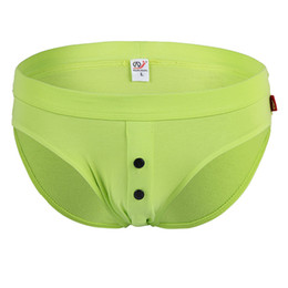 Wholesale Men Underwear Buttons - Aiiou Sexy Mens Bikini Underwear Briefs Gay Cotton Button Comfortable High Quality Home Men 'S Underwear Briefs Pants Underpants