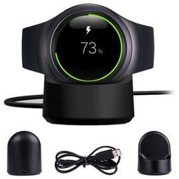 зарядное устройство для интеллектуальных часов Скидка Для Samsung Gear S2 S3 Smart Watch Беспроводное зарядное устройство-передатчик Быстрая зарядка Беспроводная зарядка Док-панель, подключенная к USB Desktop Бесплатно DHL