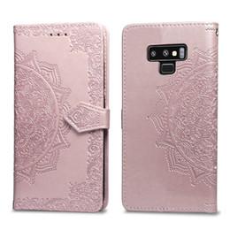 Canada Fleurs Datura Étui portefeuille en cuir Lotus motif pour Iphone X XR XS MAX 8 7 6 6S Galaxy Note 9 J4 J6 2018 UE S9 Carte d'identité Slot Lace Offre