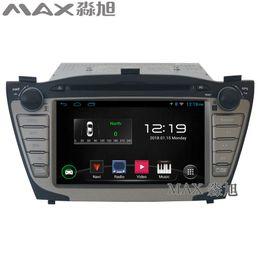 Wholesale Car Stereo Tv Hyundai - gps navigation radio Car DVD Player for hyundai ix35 with Car Radio stereo BT swc map WIFI