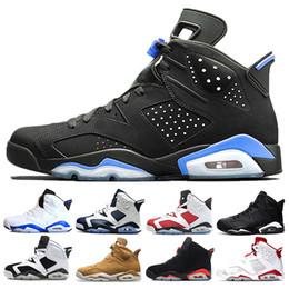 волокнистый углерод темно-синий Скидка Высокое качество 6 6s Инфракрасный кармин Баскетбольная обувь Мужчины 6s UNC Toro Hare Oreo Maroon Low Chrome Sport Blue Sneakers
