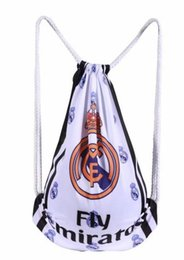 Wholesale Sport Souvenirs - Wholesale-Real Madrid bags football soccer back pack outdoor sports bag soccer fans souvenir bag backpack sport bags for men