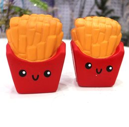 Wholesale french plants - New Slow Rising Squishies High Quality Kawaii Cute Jumbo French Fries Soft Scented Bread Cake Squishy Stretch Kid Toy