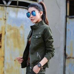 2d18b6f2f1f Bomber Military Jacket Women Casual 2018 Spring Autumn Vintage Coats  Jaqueta Feminina Plus Size 3XL Camouflage Women Jackets S1017