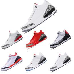 new concept 33409 21c16 Nike Air Jordan Retro 3 3s 2018 nuevos llegan 3 3s zapatos de baloncesto  azul Cyber Monday fuego rojo lobo gris Negro Cement wool deportes  zapatillas ...