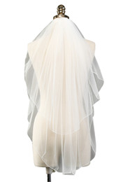 Wholesale dye accessories - Wedding Accessories Short Tulle 1.5 Meter Veils Wedding Veil White Ivory Two Layer Bridal Veil With Comb Cheap Wedding Veil CPA1033