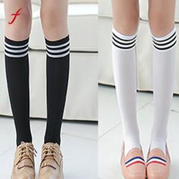Wholesale Thick Thigh High Socks - 2017 New Knee High Long Socks Fashion Women Over The Knee Sock Thigh stockings Thick Lovely Girls Princess Long socks