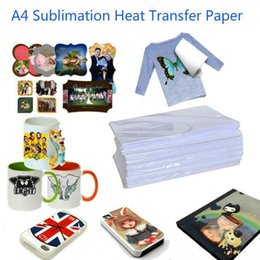 Wholesale Paper Hot Cups - A4 100 Sheets Heat transfer Paper Sublimation paper is suitable for Polyester t-shirt Hot map Hot drawing Cup Mouse pad etc
