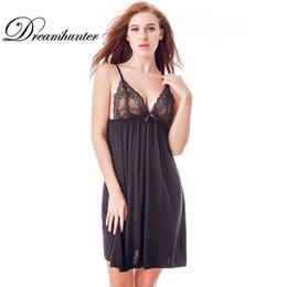 8283d41fea Plus Size Women Sexy Lingerie Lace Dress Ladies Floral Lace Patchwork  Underwear Sleepwear Night Dress Female Nightwear Sleepwear