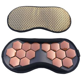 Wholesale Magnetic Therapy Eye Massager - High Quality Eye Care Tourmaline magnetic therapy Anti-Fatigue Eye Massager Sleep Travel Eyepatch Mask Eyeshade Mask Blindfold