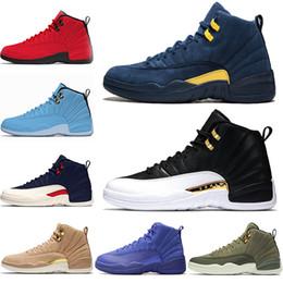 best loved 4d749 c5bc5 mejores toros Rebajas Nike Air Jordan Retro Top 12 Hombre Zapatillas de  baloncesto 12s Alas Clase