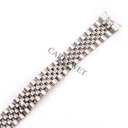 Wholesale Screw Strap - CARLYWET 20mm Wholesale 316L Stainless Steel Jubilee Silver Solid Screw Links Wrist Watch Strap Bracelet Belt With Curved End