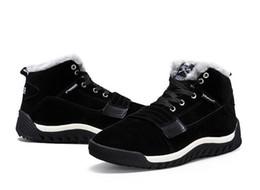 Wholesale Animation Net - Fashion Winter men's large size cotton shoes plus velvet outdoor Classic Male Ankle Boots Winter Autumn Boot Men Size:EU39-45