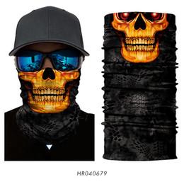 Magia 3D Sem Costura Headband Tubo Pescoço Cachecol Máscara Facial Esqueleto Da Motocicleta Crânio Halloween Bandana Lenço Lenços Lenços de Fornecedores de tamanhos de capa de colcha