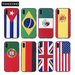 Wholesale Soccer Phone Cases - TOMOCOMO Football Soccer Star National flag 2018 Wrold Cup Phone Case For IPhone 5 6 6plus 7 7Plus 8 Plus X Plastic Shell Cover