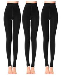 Wholesale Womens Knitted Leggings - Womens High Waist Leggings Warm Velvet Leggings Plus Size Black Thick Knitted Thicken Slim Stretch Legging For Autumn Winter