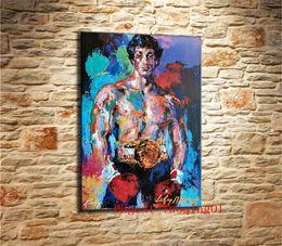 Argentina Rocky Balboa, Canvas Pieces Home Decor HD Impreso pintura de arte moderno sobre lienzo (Sin enmarcar / Enmarcado) Suministro