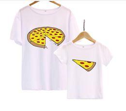 Suave y cómoda familia Trajes a juego Madre niños Linda Pizza de algodón de manga corta camiseta Verano Padre Madre Ropa de bebé desde fabricantes