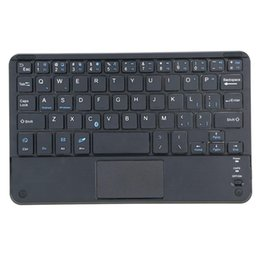 pc rii bluetooth Rebajas Windows PC 59 teclas ultra delgado mini teclado bluetooth con panel de panel táctil RR6V