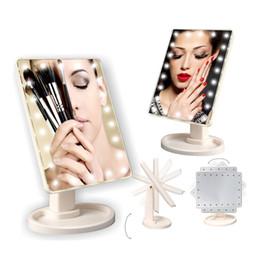 Canada Make Up LED Mirror 360 Degrés Écran Tactile Make Up Cosmétique Pliant Portable Compact Compact Poche Avec 22 LED Lumière Maquillage Miroir Offre