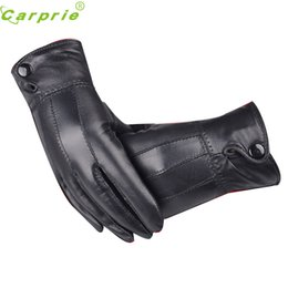 Wholesale Wholesale Women S Fashion Gloves - Motorcycle Women Girl Luxurious PU Leather Winter Super Warm Gloves Cashmere Bow Dependable New Fashion Ap7 dropshipping