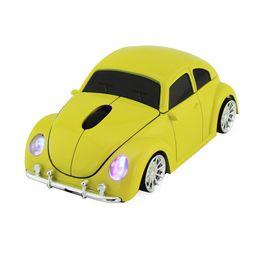 2019 juegos de computadora geniales Juego de ordenador inalámbrico esports mouse player cool beetle coche deportivo auto mouse 1600DPI cinturón óptico receptor USB para PC portátil de regalo juegos de computadora geniales baratos