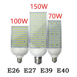 Wholesale Energy Saving Spot Light - 70W 100W 150W LED street Spot light E26 E27 E39 E40 Energy saving high power Corn Bulb Aluminum Lamp 110V 220V Lampada Lighting