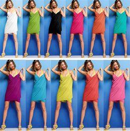 Wholesale ice silk swimwear - 11 Colors 70*140cm Microfiber ice silk Women Bath Clothing Summer Dresses Swimwear Bathroom Accessories Bathing home clothing I256