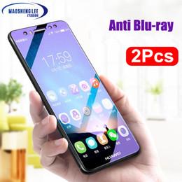 Lentes templados azul online-2 Unids / lote Vidrio Templado Completo para Huawei Mate 10 Lite Protector de Pantalla Mate 10 Pro 9H Anti Blu-ray Glass para huawei