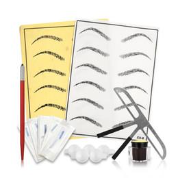 kits de práctica Rebajas Nueva llegada Microblading Set de tatuaje de cejas Manual pluma Kit Tatouage Sourcil práctica Anestesico Para mejores chines envío gratis