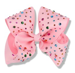 8Inch JoJo Siwa Headbow with Diamond Deco Girls Hairbow hairband for teens gifts for kids Multi color Hairpin Deals