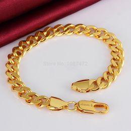 Wholesale Gold Chain Men Figaro - 2018 18k gold plated fashion snake chain Bracelets for men women Link Braceletss figaro jewelry B102