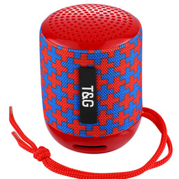 Wholesale powerful portable speakers - TG129 MINI portable wireless bluetooth speaker powerful audio mp3 audio player TF USB FM sound box 10PCS LOT