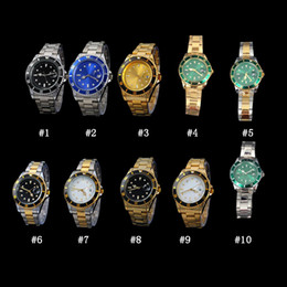 Wholesale female military - 2018 New man Military watch Stainless steel luxury Casual wristwatch steel quartz watches clock male brand watch