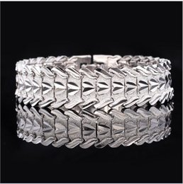 Wholesale Adjustable Snake Rings - U7 Bracelet Stainless Steel Watch Strap Style Adjustable Wide Chain Wristband Charm Bangles For Men