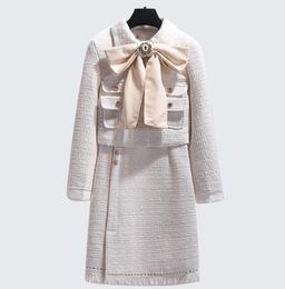 mujeres de sombrero de piel real verde Rebajas Mujeres de algodón de lana conjunto OL Boutique boutique de lujo clásico famoso sexy marca retro damas de terciopelo de terciopelo borla de terciopelo traje de lana de cachemira
